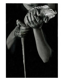 Woman with Iguana by Ellis Christopher