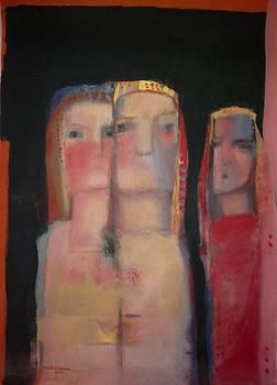women in a street II by Khalid Alaani