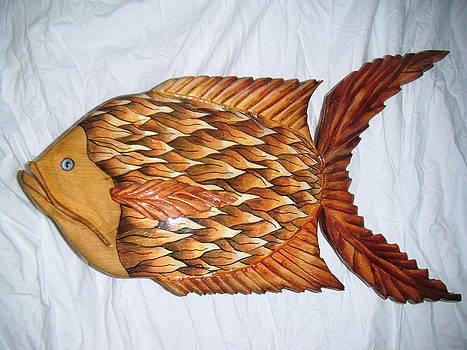 Wooden Birdtown Arkansas Whimsical Series by Lisa Ruggiero