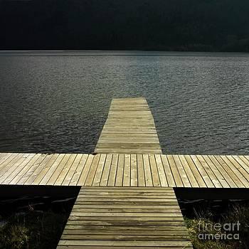 BERNARD JAUBERT - Wooden pontoon