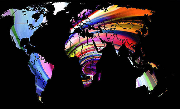 Steve K - World Map Abstract Painting 2