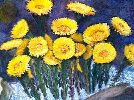 Yellow Flower by Giti Ala