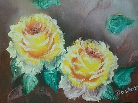 Yellow Roses by Raymond Doward