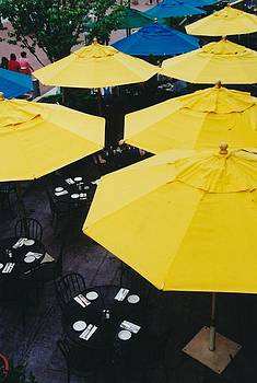 Yellow Umbrellas by Bob Whitt