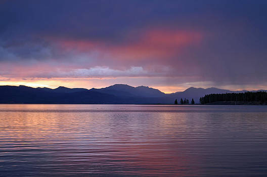 Yellowstone Lake Sunrise III by Bruce Gourley