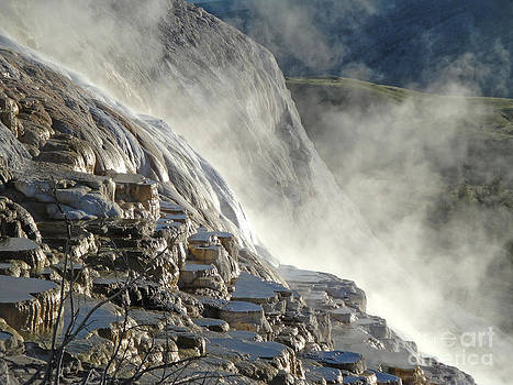 Gregory Dyer - Yellowstone National Park - Minerva Terrace - Steam