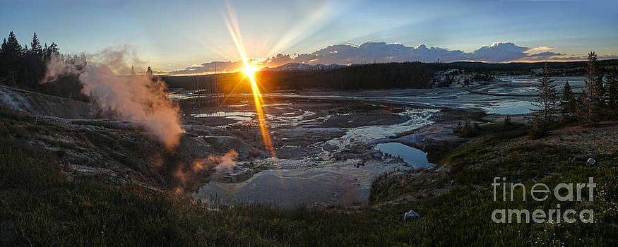 Gregory Dyer - Yellowstone Norris Geyser Basin at Sunset - 02