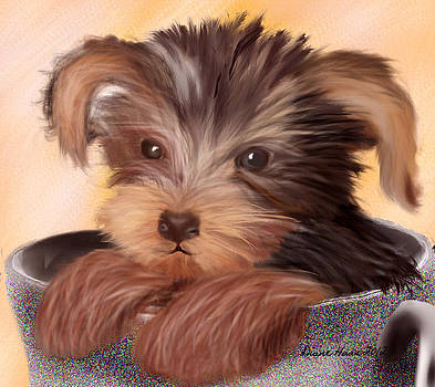 Yorkie In Your Cup by Diane Haas