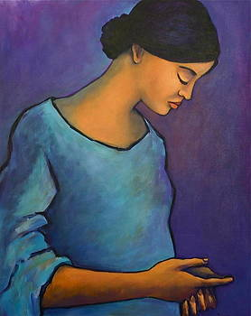 Young Mexican Girl in Blue by Susan Santiago