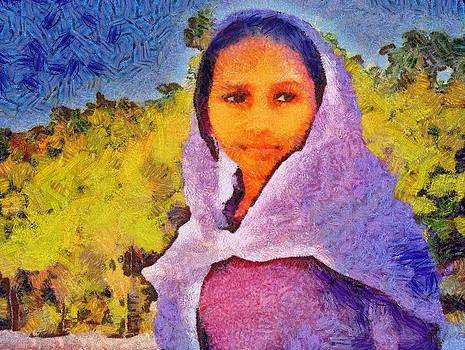 Young Moroccan girl by Balram Panikkaserry
