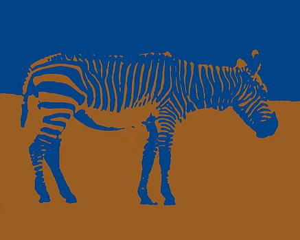 Ramona Johnston - Zebra Silhouette Brown Blue