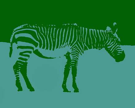 Ramona Johnston - Zebra Silhouette Green Blue