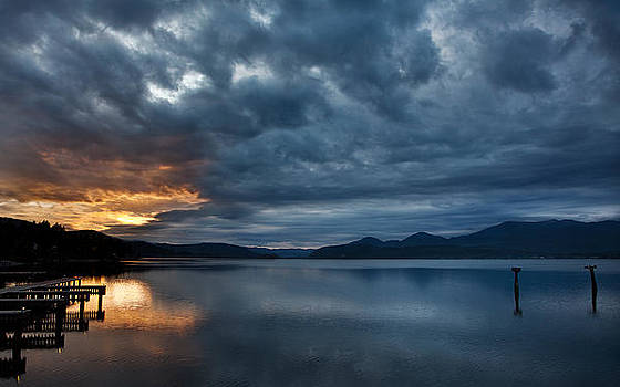 Fall Sunset Over Lake Pend Oreille by Marie-Dominique Verdier