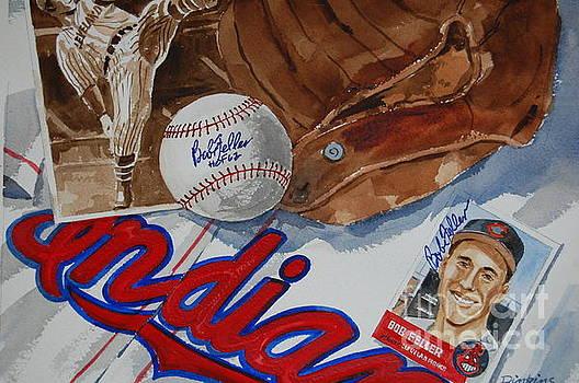 Cleveland Legend Bob Feller by Bill Dinkins