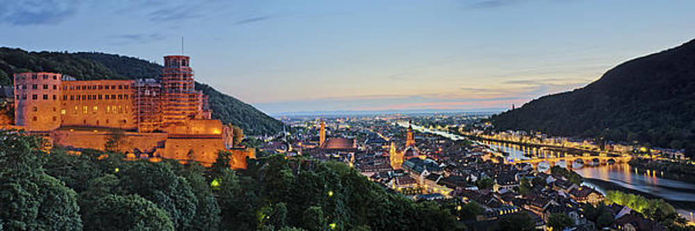 Heidelberg Night Panorama by Travel Images Worldwide