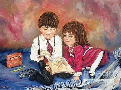 Reading Blanket 1 by Sharon Wilkens