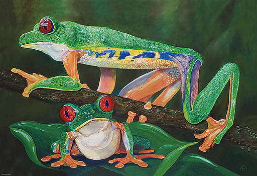 Tree Frogs by Angela Tomey