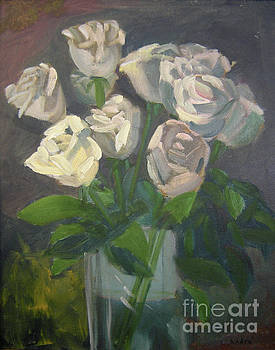 White Roses by Lilibeth Andre