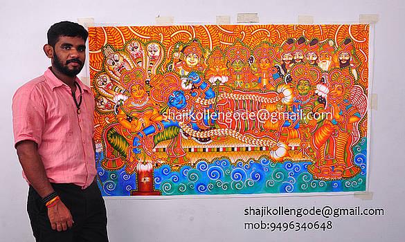 Ananthasayanam Mural  by Shaji Kollengode