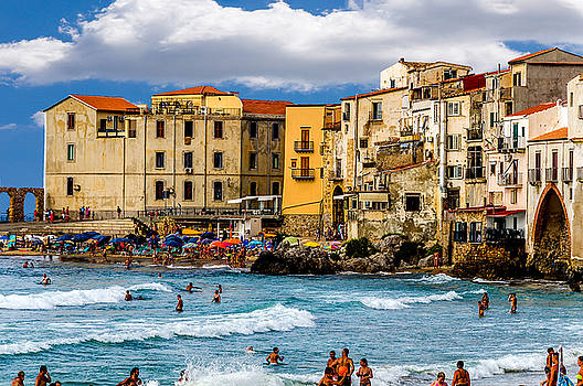 Beaches Of Cefalu Sicily by Xavier Cardell