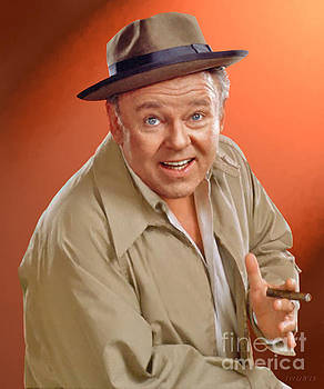 Carroll O'Connor as Archie Bunker by Stephen Shub
