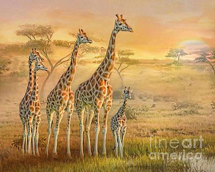 Giraffe Family by Trudi Simmonds