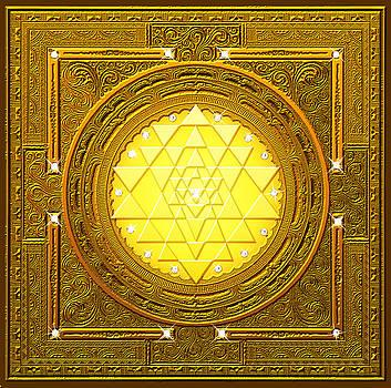 Golden Sri Yantra by Lila Shravani