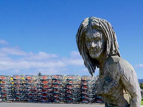 Mermaid and crab pots by Gus Schoenamsgruber