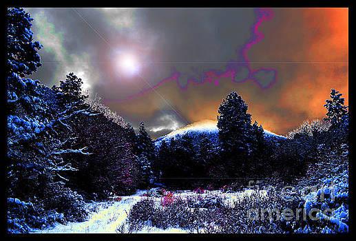 Moonrise on Kiva Mountain by Susanne Still