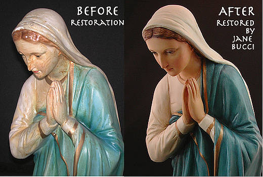 Mother Mary Restored by Jane Bucci