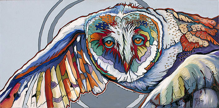 Owl in Flight by Rose Collins