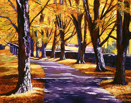 Road Of Golden Beauty by David Lloyd Glover
