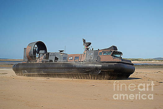 Royal Marines Hovercraft at Instow Beach  by Pete Moyes
