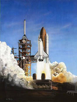 Space Shuttle Discovery by C S Bailey