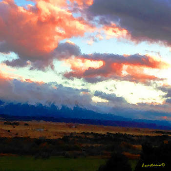 Sunset Clouds Over Spanish Peaks by Anastasia Savage Ealy