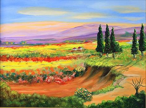 Tuscan Countryside by Ron Sammann