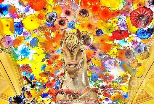 Vegas Horse Flower Power by John King