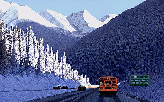 A Winter Drive in British Columbia by Neil Woodward