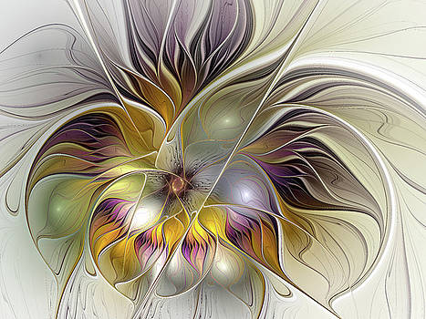 Abstract Fantasy Flower by Gabiw Art