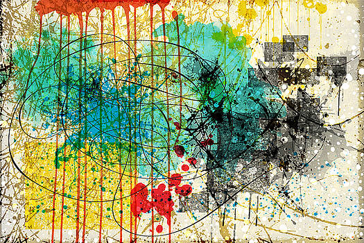 Abstract Splatter by Gary Grayson
