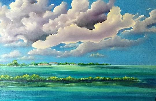 Across the channel from Duck Key by Patti Lane