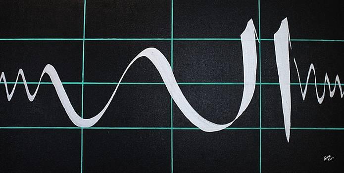 Divine Name in Cardiograph by Faraz Khan