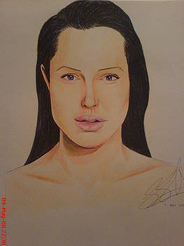 Angelina Jolie by Sandeep Kumar Sahota