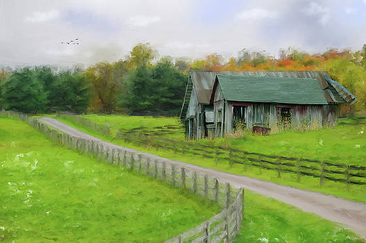 Autumn Barn by Mary Timman