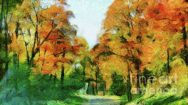 An Autumn Drive by Putterhug Studio