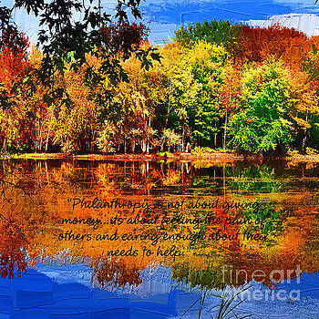 Autumn Serenity Painted Philanthropy Custom Sized by Diane E Berry