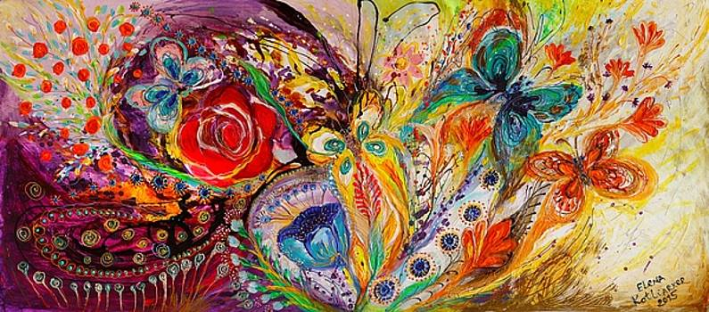 The flowers and butterflies by Elena Kotliarker