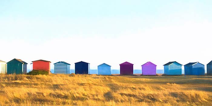 Beach Huts by Trevor Wintle