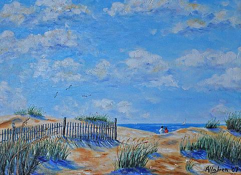 Beach Strollers by Stanton Allaben