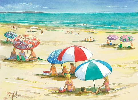 Beach Umbrellas by Ray Cole
